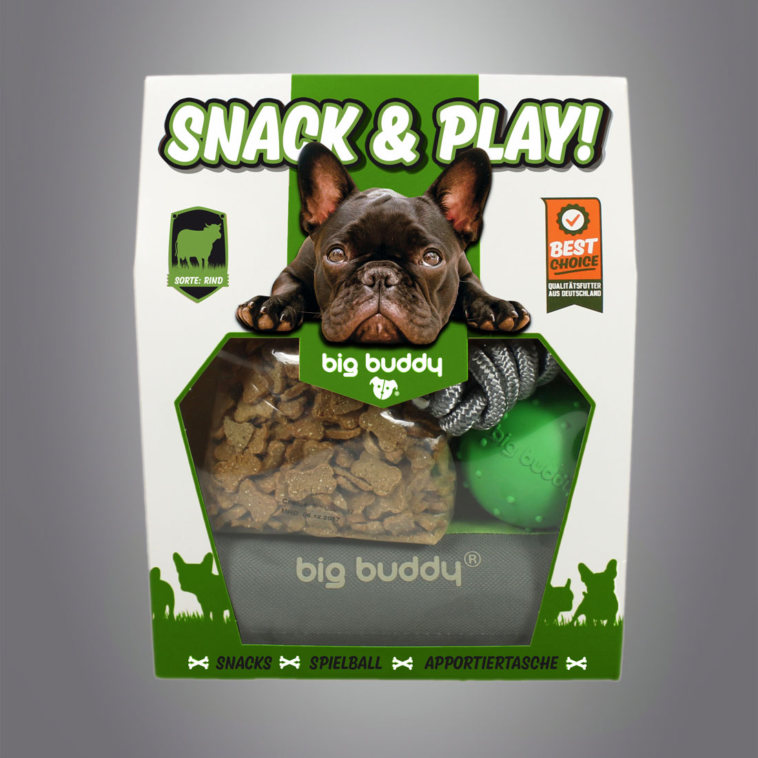 Big Buddy Snack & Play Set / Rind