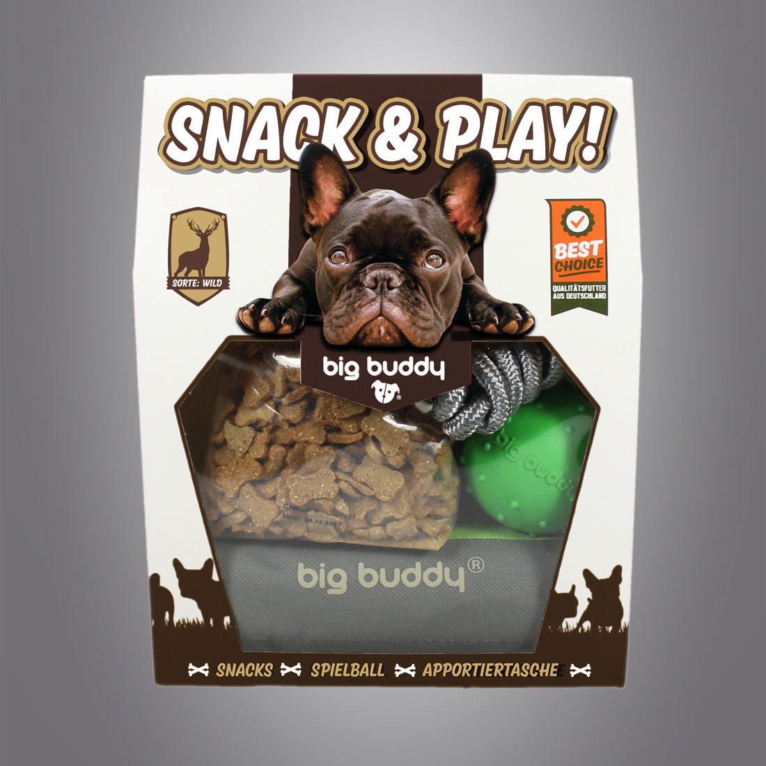 Big Buddy Snack & Play Set / Wild