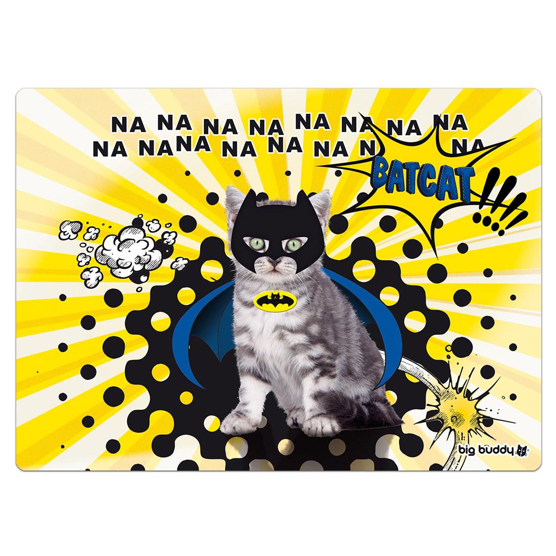 """Big Buddy Cat Placemat """"Bat-Cat"""""""